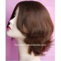 100% perucas judaicas naturais de seda da parte superior do Virgin