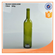 750ml Amber or Green Wine Glass Bottles with Cork Stoppers