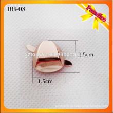 BB08 Custom Metall Gold Schuhschnalle mit abnehmbare Clips Handtasche Metall Dekoration