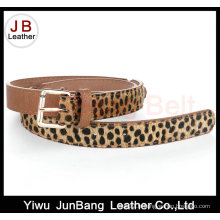 Leopard Grain PU Ceinture en cuir pleine fleur en cuir pour ceinture