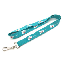 Eco-friendly Silk Screen Flat Polyester Lanyard