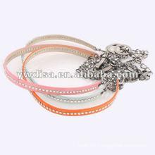Ceinture PU pour femme avec chaîne en métal