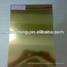 proveedor de bobina de aluminio de espejo de oro