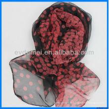Весна / лето печать polka точка шифон шарф