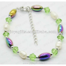 Mode 2012 Joya Hämatit Regenbogen Perlen Fußkettchen