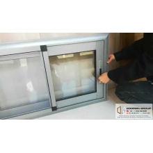 Automatic sliding window opener aluminum price philippines framed double glazed