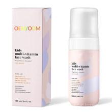 OEM/ODM Natural Vitamin Skin Care Foaming Face Wash for Kids