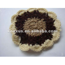 Ручной цветок вязания крючком хлопка
