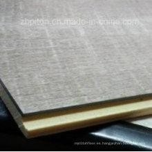 Suelo compuesto WPC de madera y plástico impermeable