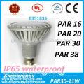 UL TUV CE listed dimmable IP65 waterproof PAR30 E27/E26 bulb LED lighting spotlight