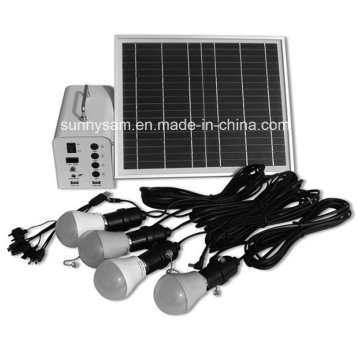Integrated Energy Saving Mini 10W Portable Solar Power System for Home Use