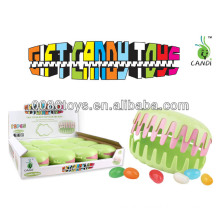 finger animal in teeth box candy toys