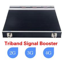 Tri-Band Repeater 2g 3G 4G 1800/2100/2600MHz Cell Phone Signal Booster Triband Amplifier