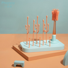 Escova de limpeza Escova de secagem de garrafa com bico
