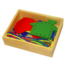 Wooden Lacing Toy with Different Shapes (80164-2)