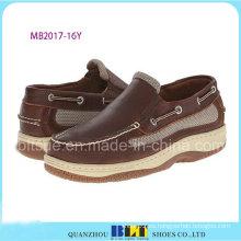 Zapatos de barco de cuero a prueba de agua de nuevo diseño