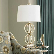 White Fabric Lampshade Study LED Table Lamp for Hotels