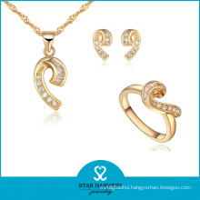 10 Years 925 Sterling Silver Plating Jewelry Set Design (J-0039)