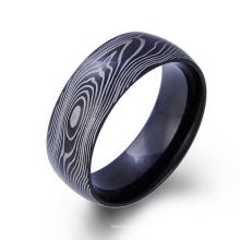 Custome Edelstahl schwarzer Mann Ringe Kohlefaser Ader Ring Custome Edelstahl schwarzer Mann Ringe Kohlefaser Ader Ring