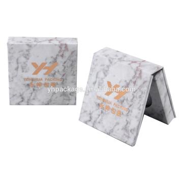 Boîte de papier d'emballage de palette de fard à paupières de maquillage de couleur simple de style de marbre