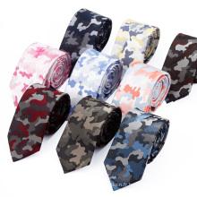 Cravates en soie militaires italiennes camouflage personnalisé pour hommes
