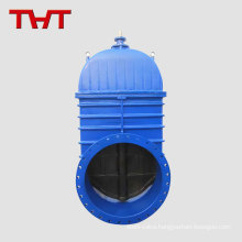 Large size resilient wedge large diameter resilient seated stem gate valve