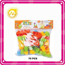 70 PCS educativo de aprendizaje temprano de bloques de plástico de juguete