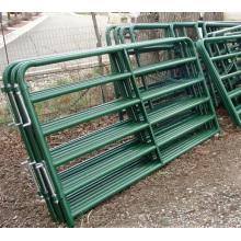 Panneaux de corral galvanisés plongés chauds résistants / porte en métal de ferme de ferme de champ de bétail pour le cheval de mouton de bétail