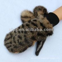 Mitón más nuevo del cuero de la piel del Faux del leopardo 2012