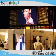 Affichage à LED de Windows de verre de mur de centre commercial