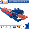 Glasad Färg Tak Tile Roll Forming Machine