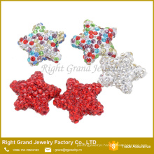 Multi size mixed AAA CZ Stone Color Star shamballa jewelry beads
