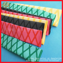 Nonslip heat shrink tubing for tennis racket