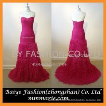 2016 Novo vestido de casamento sem alças de design para venda sereia vermelha slim line vestido de baile vestido de casamento sem costas sereia