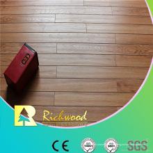 Plancher en stratifié à rainure en V d'Hickory de relief de 12mm E0 HDF AC4