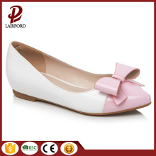 small white flat cute shoes bow tie