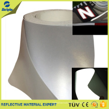 Silver/ Grey Reflective PU Flex Heat Transfer Film For Shoes