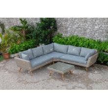 Ensemble de canapé en rotin en résine synthétique design à la mode pour meuble en rotin pour jardin extérieur ou salon