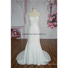 De alta qualidade branco vestido de noiva sereia vestido de noiva vestido de renda