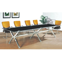 Modern Office Furniture Metal Base Glass Conference Table (FOHJ-8086)