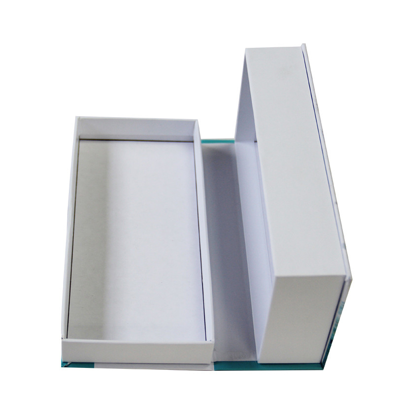 Paperboard Book Shape Cosmetic Rigid Gift Box