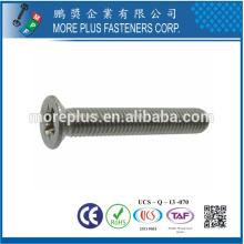 Made in Taiwan Cross Recessed Drive Flat Head Mild Steel Zinc Plated Nickel Metric M5X10 Machine Screw