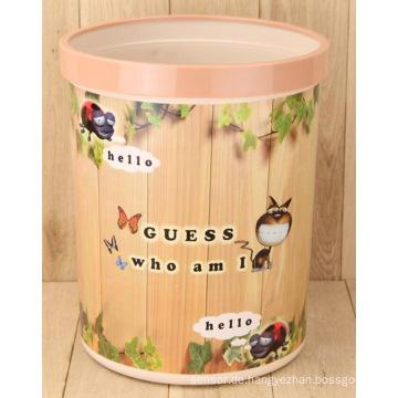 Fashion Round Müllbehälter Papierkorb für Wohnzimmer (FF-5225-1)