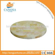Tapete de copo de casca de água doce de cor natural para decoração de mesa