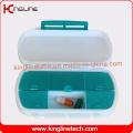 Neueste Design Plastik 6-Koffer Pill Box (KL-9133)