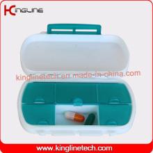 Caixa de pílula de plástico de design mais recente de 6 casos (KL-9133)