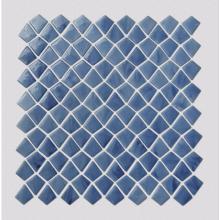 Blue irregular pattern glass mosaic tiles for bathroom
