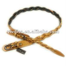 Cinturón de cuero trenzado para mujer