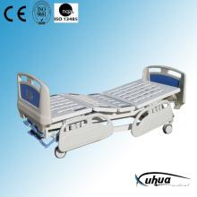 Central Braking Three Cranks Manual Hospital Medical Bed (A-15)