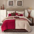 Madison Park Sundance Comforter Duvet Cover Pieced Red Bedding Set